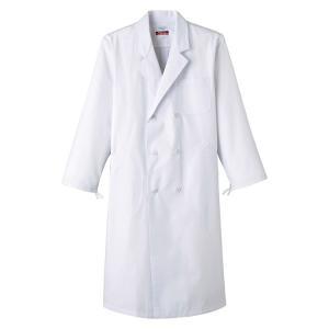 医療白衣 抗菌 防臭加工 男性用 ドクターダブル 診察衣 実験衣 医療 MR115 ナースウエアーあすつく|seifukusimasenka