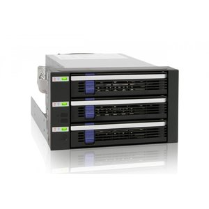 MB153SP-B リムーバブルケース 3 x 3.5インチ 5インチベイ3段 SATA HDD 搭載可能 seijinshoji
