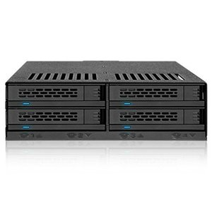 MB324SP-B リムーバブルケース 4 x 2.5 インチ SAS / SATA HDD / SSD 搭載可能 5インチベイサイズ seijinshoji