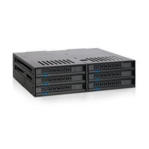MB326SP-B リムーバブルケース 6 x 2.5 インチ SAS / SATA HDD / SSD 台搭載可 5インチ ベイ サイズ seijinshoji