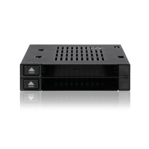 MB522SP-B flexiDOCK リムーバブルケース  1 x 3.5インチベイ に 2 x 2.5 インチ SATA SAS HDD SSD 搭載 トレイ レスタイプ seijinshoji