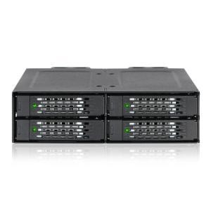 MB699VP-B ToughArmor リムーバブルケース 1 x 5インチベイ に 4 x 2.5インチ U.2 NVMe SSD 搭載用|seijinshoji