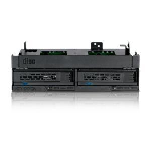 """MB732SPO-B ExpressCage 5.25""""ベイ 複数デバイス搭載 2 x 2.5"""" SAS/SATA SSD or HDD + Slim(Ultra Slim) ODD seijinshoji"""