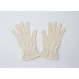 刺繍付保湿手袋 / オーガニックコットン PRISTINE プリスティン|seijo-fairy