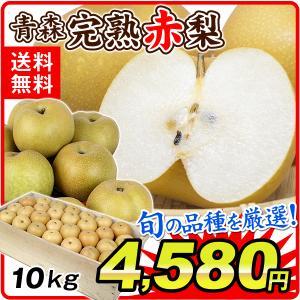 梨 青森産 大特価 完熟赤梨(約10kg)木箱 品種おまかせ(豊水 幸水 長十郎 多摩など)赤梨 あかなし 食品 フルーツ 果物 国華園|seikaokoku
