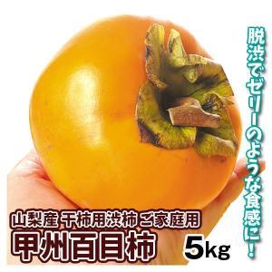 山梨産 甲州百目柿 5kg 渋柿 干し柿 ひゃくめ柿 seikaokoku