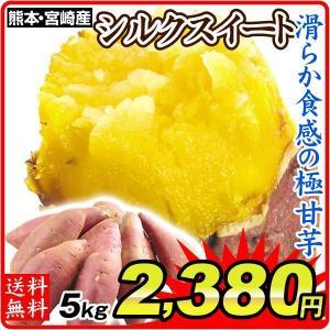 さつまいも 熊本・宮崎産 シルクスイート 5kg  訳あり ご家庭用 甘藷 サツマイモ 野菜 数量限定 国華園|seikaokoku