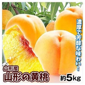 桃 大特価 山形の黄桃 (5kg)冷蔵便 ご家庭用 品種おまかせ ピーチ 黄桃 もも フルーツ 国華園|seikaokoku