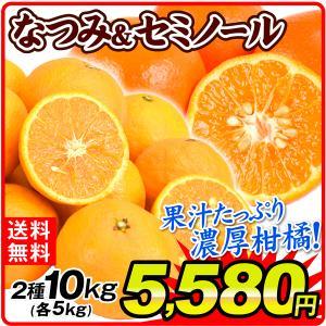 イチ押し芳醇柑橘セット【なつみ&セミノール】 2種10kg(各5kg)1組 ご家庭用 送料無料 食品|seikaokoku