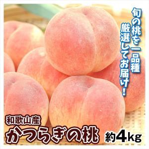 桃 和歌山産 かつらぎの桃 約4kg 送料無料 もも 品種おまかせ|seikaokoku