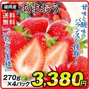 いちご 福岡産 お買得 あまおう 4パック ご家庭用 送料無料 食品|seikaokoku