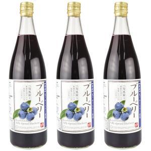 長野産 ブルーベリージュース 白箱 3本|seikaokoku