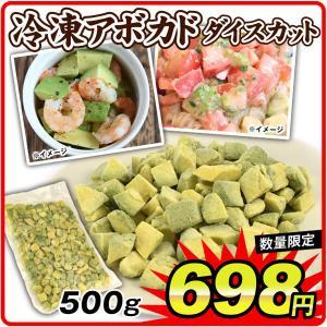 食品  冷凍アボカド ダイスカット 500g×1袋 【数量限定】冷凍便 ご家庭用 国華園 seikaokoku
