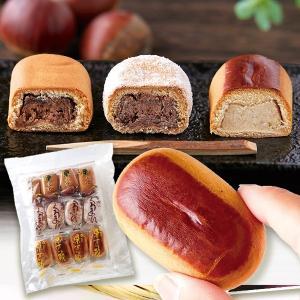お菓子 栗まんじゅう3種セット 4袋 食品 国華園 seikaokoku