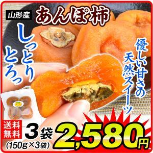 お菓子 山形産 あんぽ柿 3パック 【送料無料】メール便 食品 国華園 seikaokoku