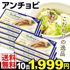 アンチョビ 缶詰 35g×10缶 メール便  ポイント消化 珍味 おつまみ 酒の肴 国華園|seikaokoku