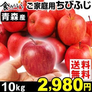リンゴ 青森産 ちびふじ ご家庭用 10kg 1箱 送料無料...