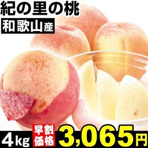 桃 【早割価格】和歌山産 紀の里の桃 4kg1組 食品...