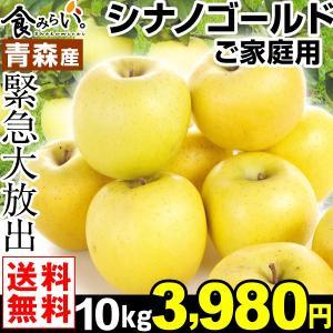 りんご 青森産 シナノゴールド ご家庭用 10kg1箱 送料...