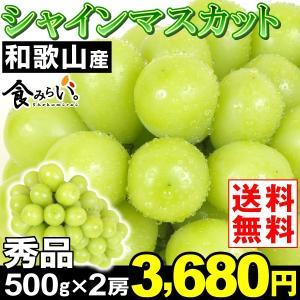 ぶどう 和歌山産 シャインマスカット・秀品 500g×2房 ...
