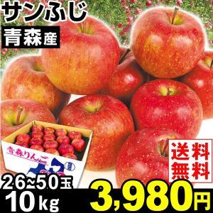 りんご 青森産 サンふじ 10kg1箱 送料無料 林檎 食品