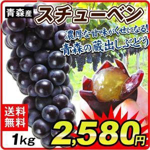青森産 スチューベン 1kg 1箱 ぶどう ブドウ 中粒 甘い|seikaokoku