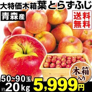 りんご 青森産 大特価 木箱 葉とらずふじ 約2...の商品画像
