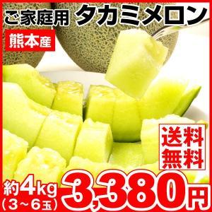 メロン 約4kg 熊本県産 ご家庭用 タカミメロン 青肉メロン 果物 食品|seikaokoku