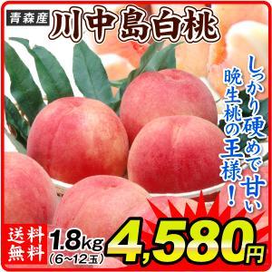 桃 青森産 川中島白桃 1.8kg 1箱 送料無料 食品 国華園|seikaokoku