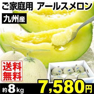 メロン 九州産 ご家庭用 アールスメロン 約8kg メロン 果物 食品|seikaokoku