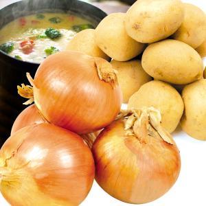 たまねぎ じゃがいも 北海道産 じゃがたまセット 2種約10kg1箱 野菜 国華園|seikaokoku