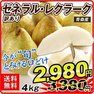 洋梨 青森産 訳あり ゼネラル・レクラーク 約4kg1箱 フルーツ 果物 国華園|seikaokoku