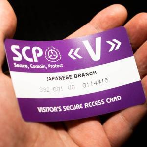 SCP財団 認証カード 来訪者用 2枚|seikastore