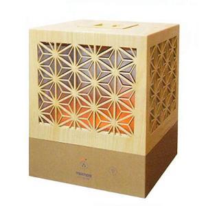 《組子調て_行灯のようなほのかな明かりを演出》TEKNOS 超音波加湿器組子デザインEL-C36L(...