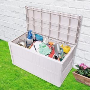 屋外用 組立式 ガーデンコンテナ|ガーデンボックス 収納庫 屋外 収納コンテナ 収納ボックス 工具箱 ツールボックス ポリタンク コンテナボックス ガーデニングの写真