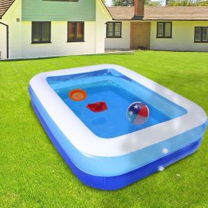 家庭用大型長方形プール 200×148×50cm | プール ビニールプール キッズプール 水あそび レジャープール ファミリープール 家庭用プール 子供用プール ガーデン