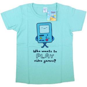 [アドベンチャータイム] Tシャツ/ビーモ(アイスグリーン)【レディースM】|seikatudo