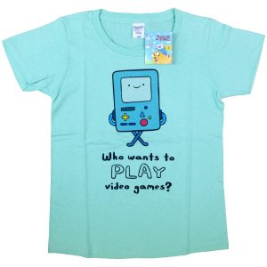 [アドベンチャータイム] Tシャツ/ビーモ(アイスグリーン)【メンズM】|seikatudo