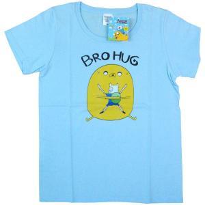 [アドベンチャータイム] Tシャツ / ブロハグ(ライトブルー)【メンズ M】|seikatudo