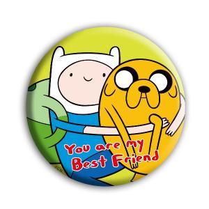[アドベンチャータイム] 缶バッチ 01 You are my Best Friends 【ゆうパケット可能】|seikatudo