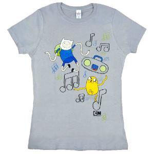 [アドベンチャータイム] Tシャツ グレー (輸入品)|seikatudo