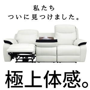 電動 リクライニング ソファ 一人掛け 両電動 3P ホワイト 皮 合皮 ピエットII