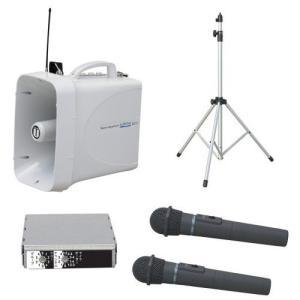 拡声器 30W PLL300MHz帯 選挙用スピーチセット(雨天対応) TWB-300 ST-110 WM-3400×2本 SU-350|seiko-techno-pa