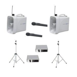 拡声器 60W PLL300MHz帯 選挙用スピーチセット TWB-300×2 ST-110×2 WM-3400×2 SU-350×2|seiko-techno-pa