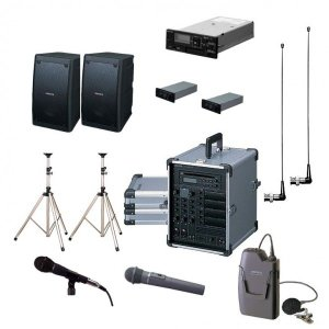 拡声器 200W PLL800MHz帯 選挙用スピーチセット CGA-200DA DU-8200×2 AA-382×2 EWS-120×2 ST-25×2 MD-58 WM-8100A WM-8400 SDU-100|seiko-techno-pa