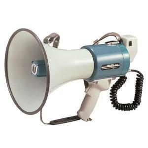 拡声器 中型メガホン ユニペックス 15W TRM-66A|seiko-techno-pa