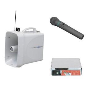 拡声器 選挙用大型メガホンSD再生セット ワイヤレスマイク付 TWB-300 WM-3400 SDU-300|seiko-techno-pa
