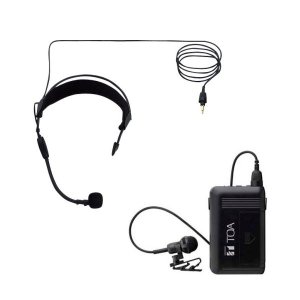 TOA 800MHz帯 ワイヤレスヘッドセットマイク セット WM-1320 + WH-4000A|seiko-techno-pa