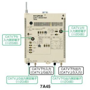 マスプロ CATVブースター 45dB 7A45|seiko-techno
