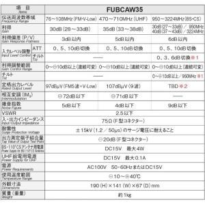 マスプロ 4K・8K対応 共同受信用 UHF・FM/BS(CS)ブースター FUBCAW35  seiko-techno 02
